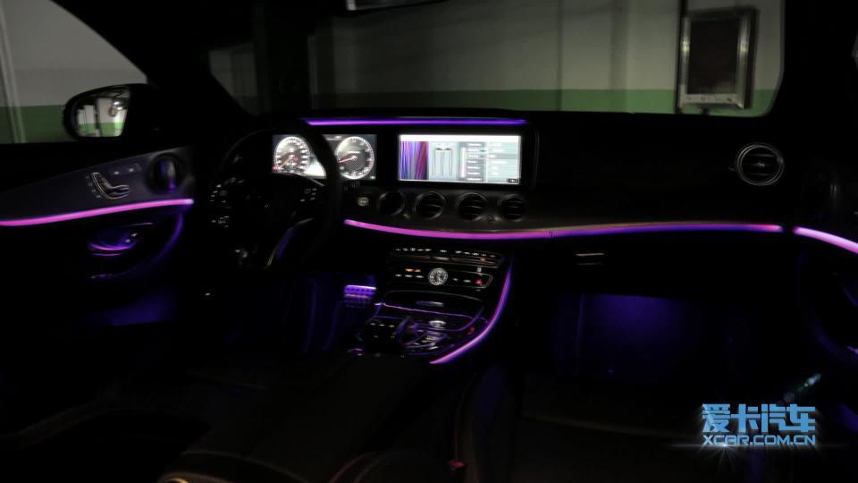 奔驰E级AMG 氛围灯展示