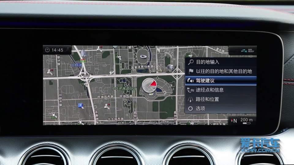 奔驰E级AMG 导航系统展示