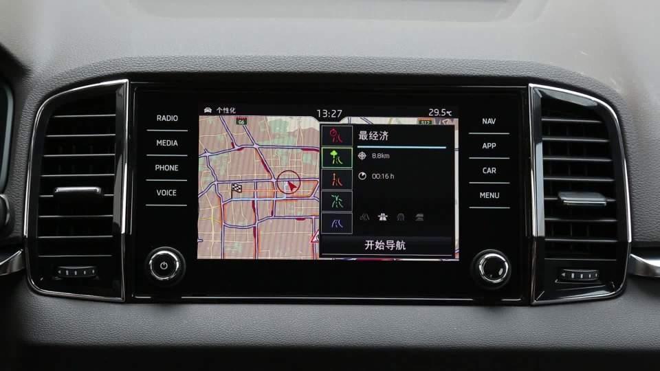 斯柯达 柯珞克 导航系统展示