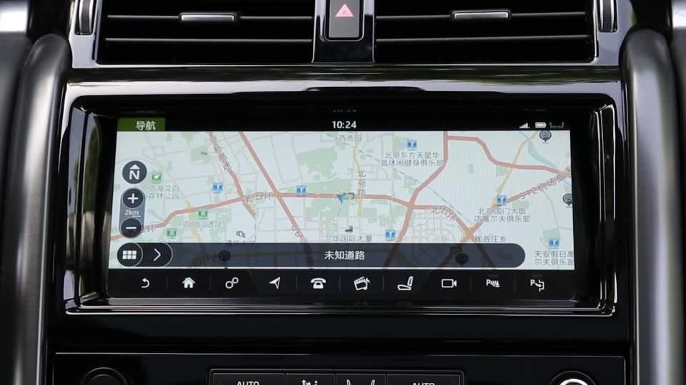 2017款路虎发现 导航系统展示