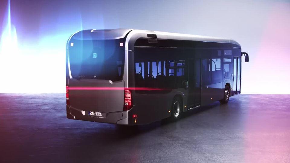 奔驰发布全新纯电动巴士eCitaro预热片
