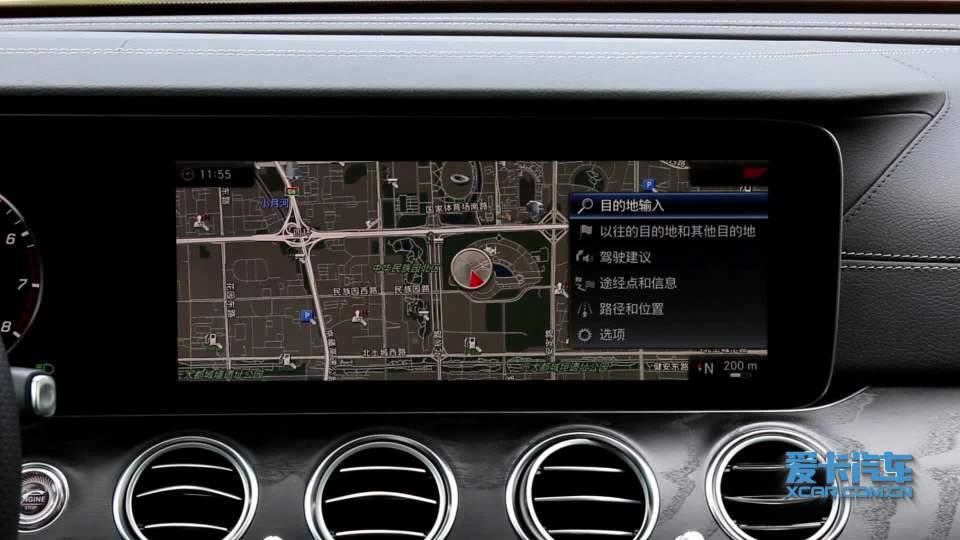 2018款 奔驰E级 导航系统展示