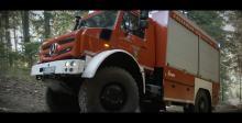 最小离地间隙450mm的奔驰越野消防车