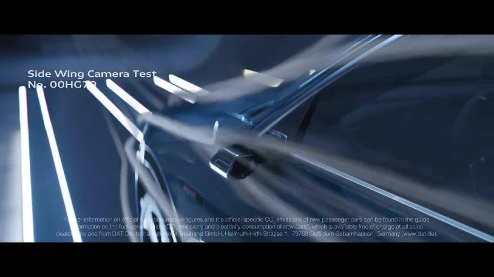 奥迪e-tron  无后视镜侧翼相机测试