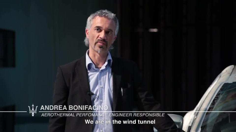 玛莎拉蒂Ghibli在风洞中进行测试