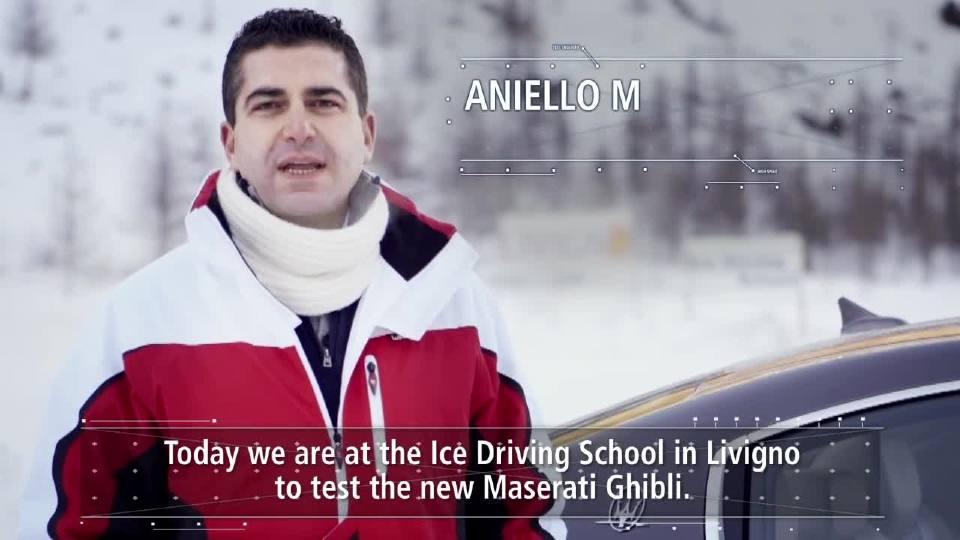 玛莎拉蒂Ghibli S Q4和Ghibli Diesel在利维尼奥的冰上进行测试