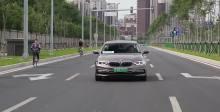 2018款 宝马5系混动 车道保持系统展示
