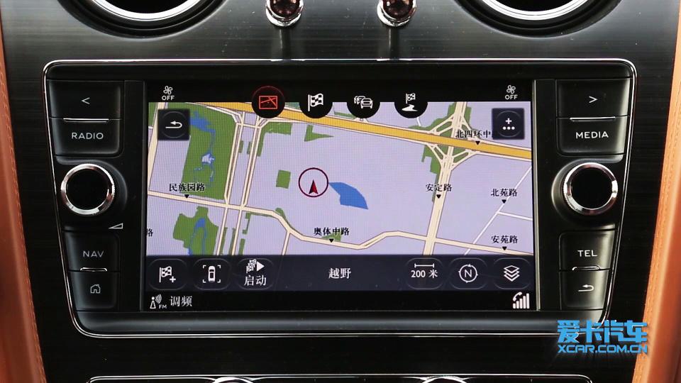 2018款 宾利添越 导航系统展示